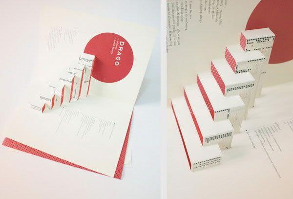 Desain brosur 3D sederhana namun tetap elegan