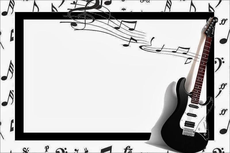 Música: Imprimibles para Fiestas e Invitaciones para Imprimir Gratis ...