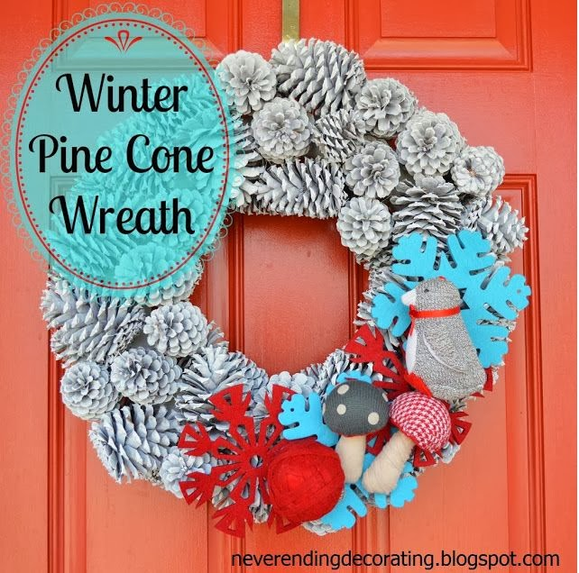 Winter Pine Cone Wreath