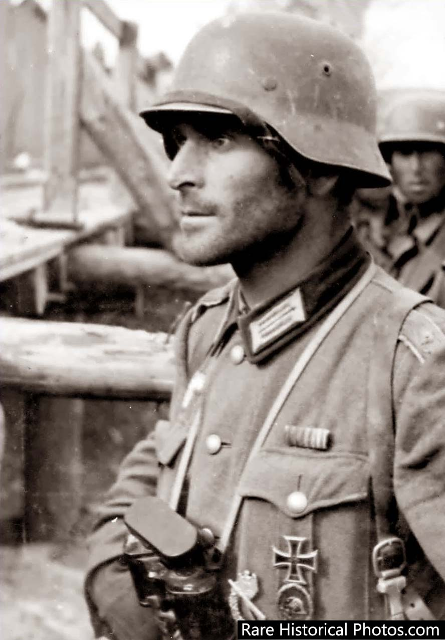 Hauptmann Friedrich Winkler at Stalingrad. He was one of the 91,000 German soldiers who surrendered in 1943. He later died at the POW camp at Beketovka.