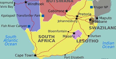Map of South Africa 650x330 - 9JA NEWS: South African Policemen Arraigned For Allegedly Robbing Nigerian Man