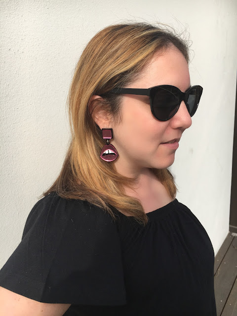 Jennifer Loiselle, jewelry designer, earrings, perspex jewelry, hand enameled jewelry, handmade jewelry, interview, First Look Fridays interview series, Jennifer Loiselle Lips Drop Earrings Pink Mirror Perspex
