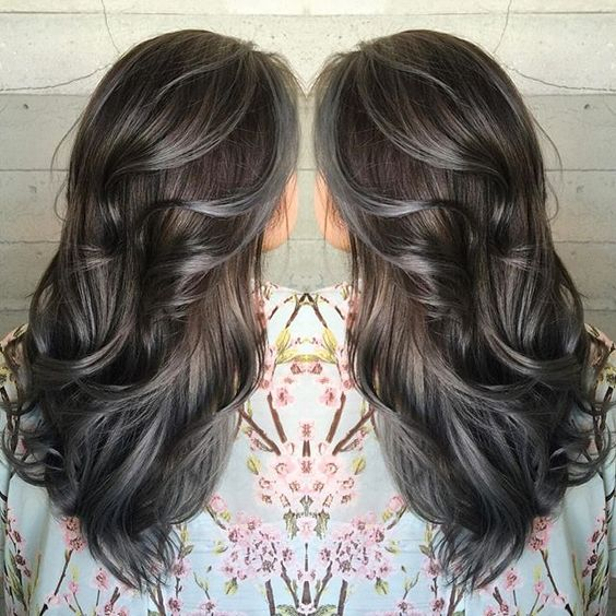 Amazing GreySilver Highlights The HairCut Web