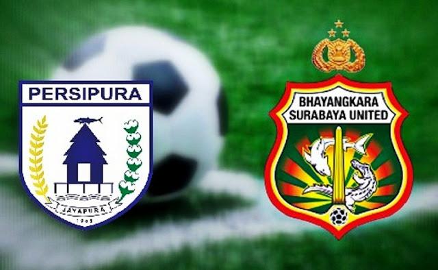 Persipura Full Team Lawan Bhayangkara Surabaya United