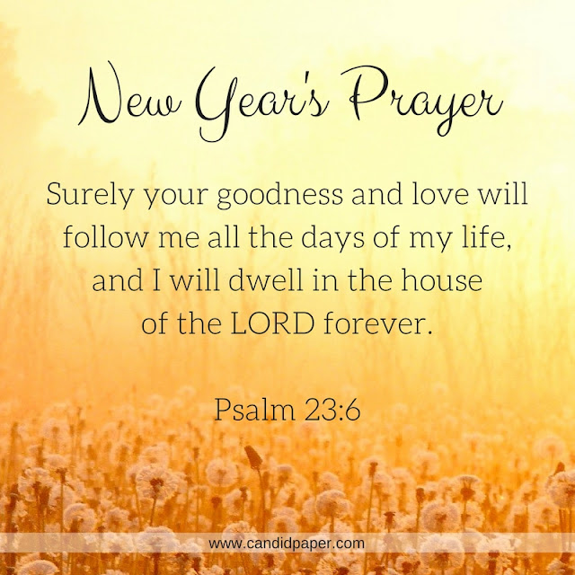 New Year Images With Bible Quotes: New Year's Prayer