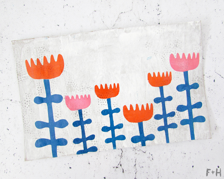 diy scandinavian flower envelope art tutorial