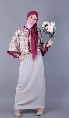 model hijab Igo Cantik claudia pegang bunga cantik dan indah rok panjang manis dan indah