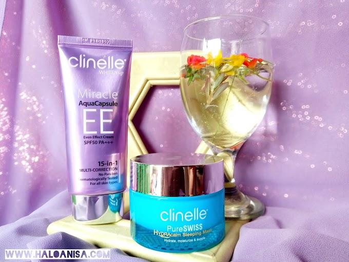 Rahasia Kulit Glowing Dengan Clinelle HYDRAcalm Sleeping Mask & Clinelle EE Cream