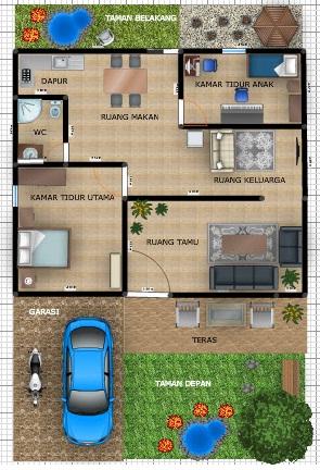 Denah Rumah Mungil & Desain Rumah Minimalis Terbaru 2016: Denah Rumah Mungil