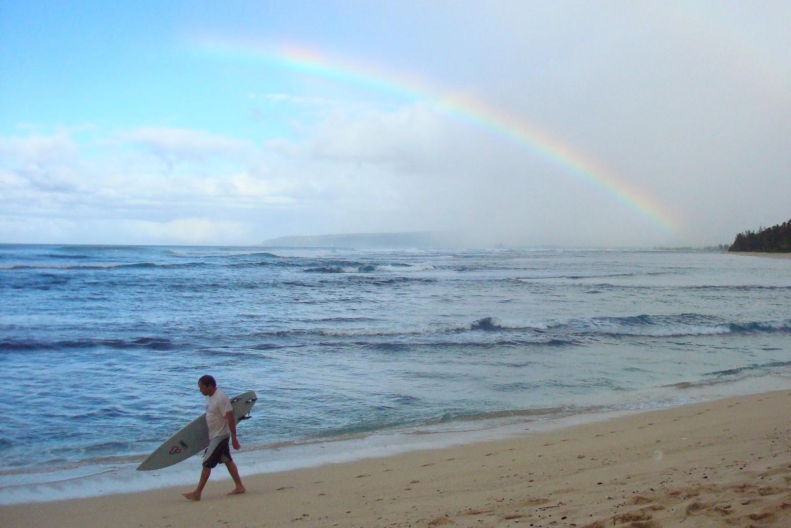 image result for surfer surboard beach ocean rainbow
