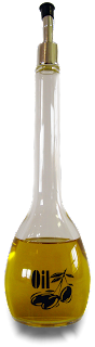Garrafa alta de óleo vegetal