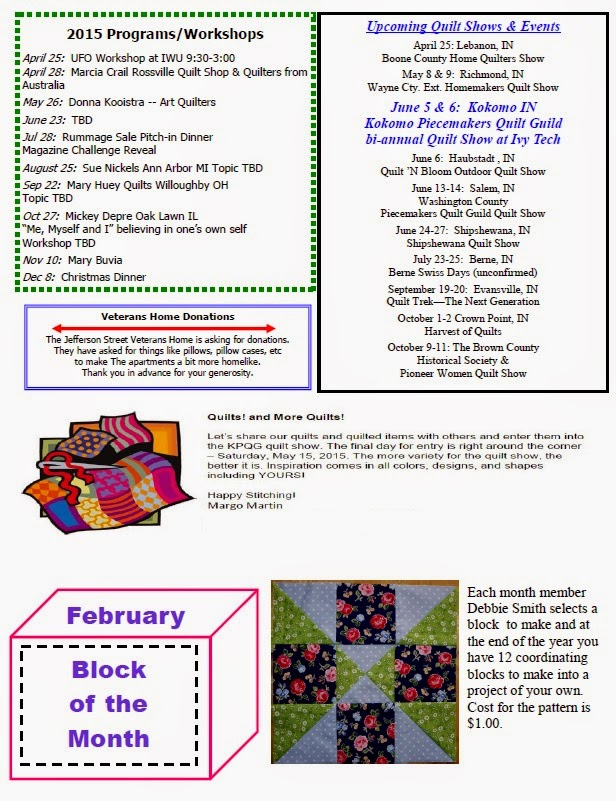 Quilt Guild Newsletter Ideas : Kokomo Piecemakers Quilt Guild: Newsletters