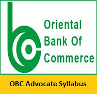OBC Advocate Syllabus