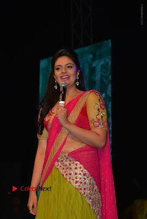 Srimukhi Stills in Half Saree at Nenu Local Audio Launch