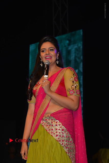 Telugu Anchor Srimukhi Stills in Half Saree at Nenu Local Audio Launch  0001.JPG
