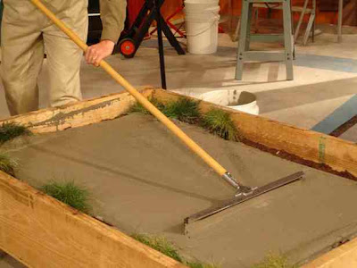Concrete finishing tool, list of concrete tools,