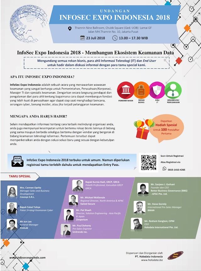 Kami hadir dalam INFOSEC EXPO INDONESIA 24 Juli 2018