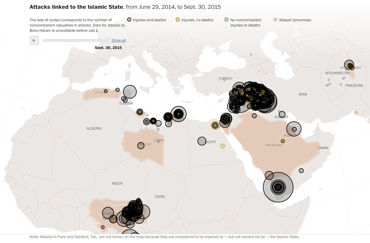 Attacks linked to the Islamic State (29 June 2014 - 30 September 2015)