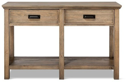 Wood console table from target