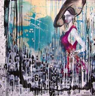 Фигуративно-абстрактные картины. Michelle Hoogveld