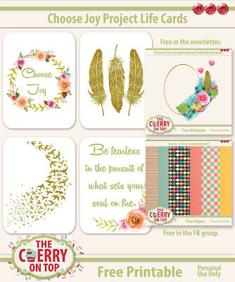 Choose Joy Journal cards