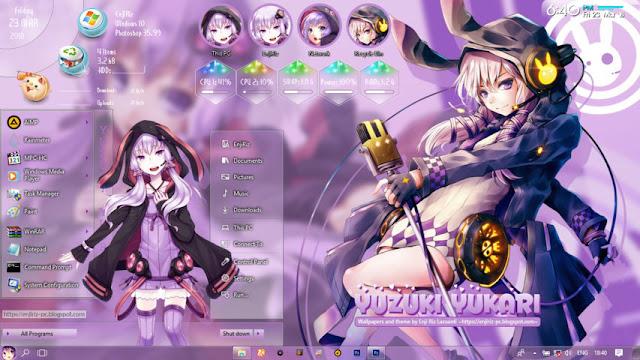Windows 10 Ver. 1803 Theme Yuzuki Yukari by Enji Riz