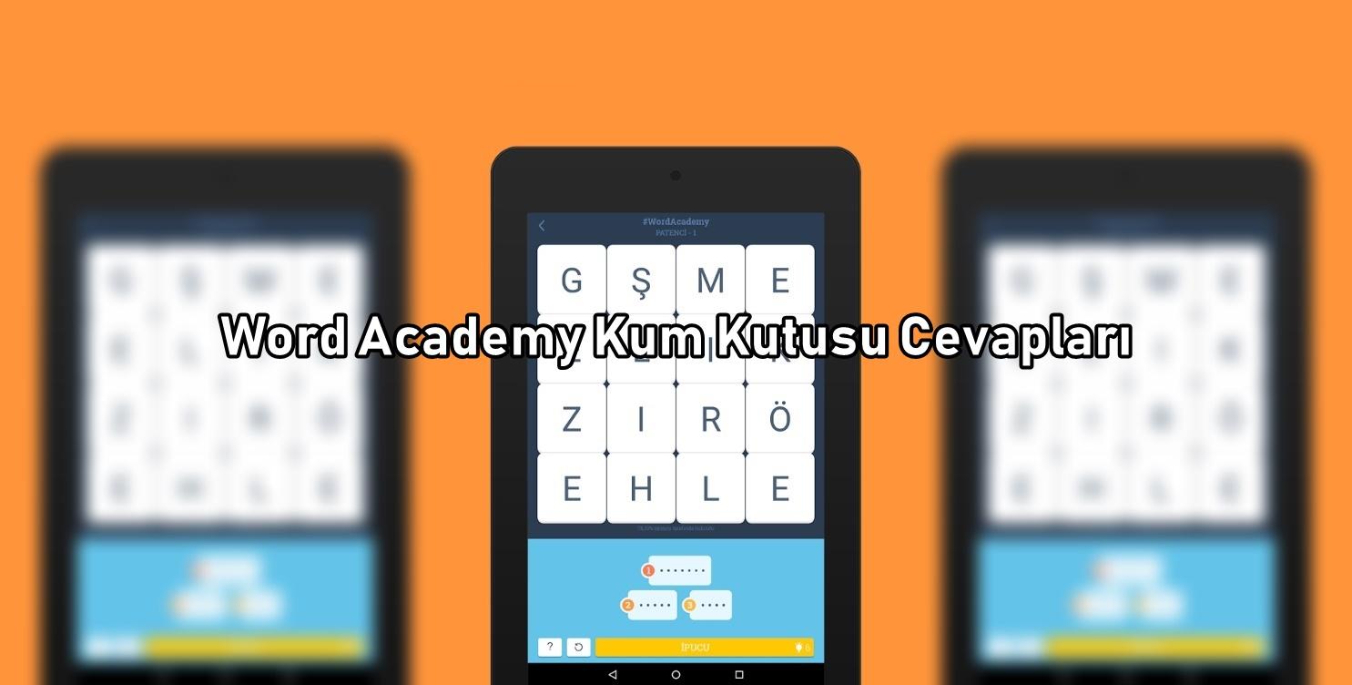 Word Academy Kum Kutusu Cevaplari