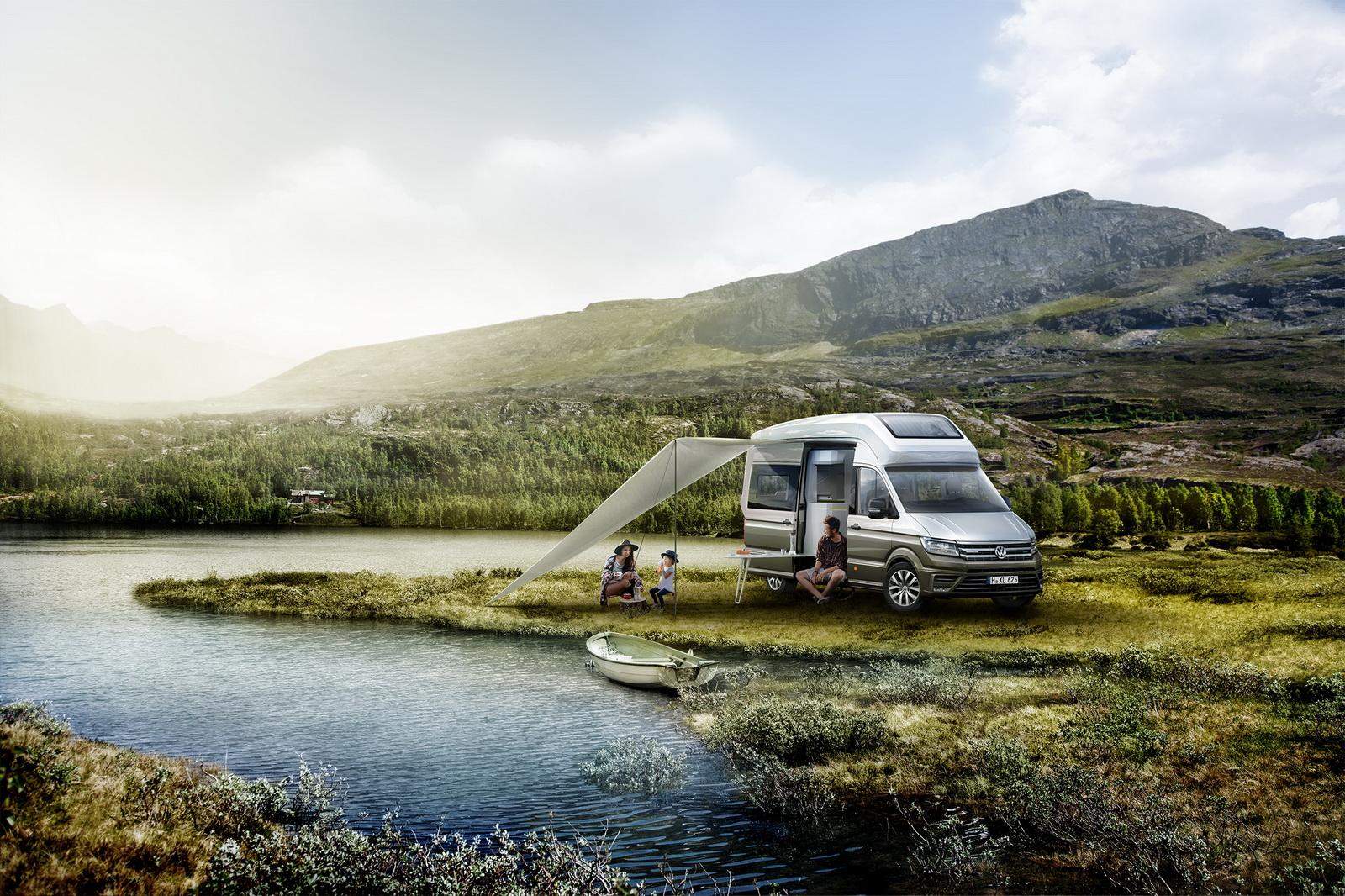 vw california xxl concept is big camper van for globetrotters 41 pics carscoops. Black Bedroom Furniture Sets. Home Design Ideas