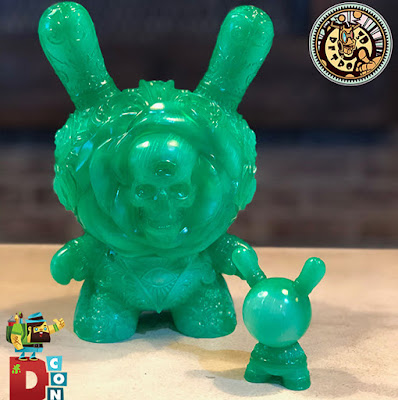 "Designer Con 2017 Exclusive The Clairvoyant Jade Edition Dunny 8"" Vinyl Figure by JRYU x Kidrobot x 3DRetro"