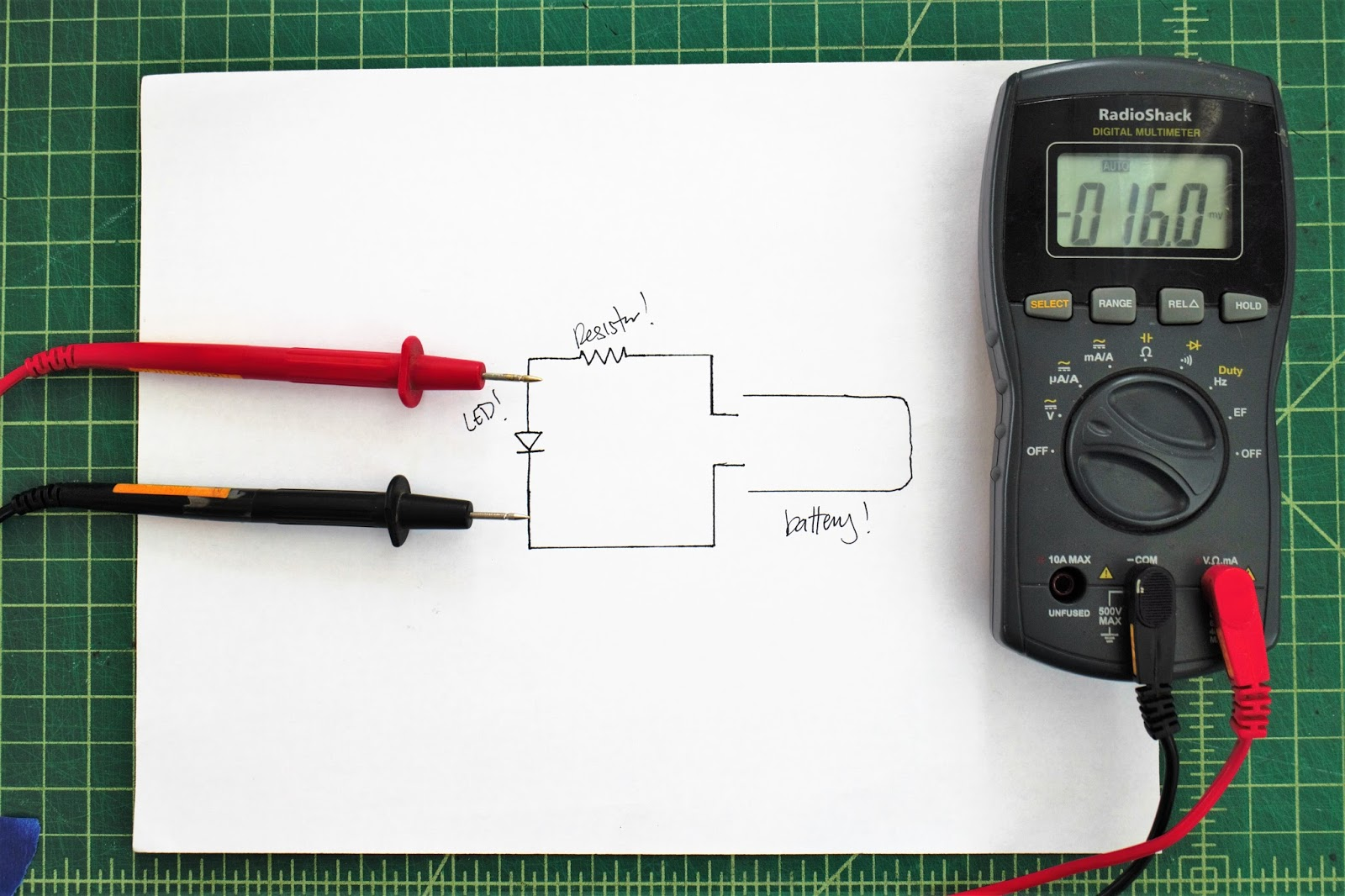 Maker quest how to use and choose a multimeter the black multimeter probe goes into the com port and the red probe into the port marked with a v biocorpaavc Image collections