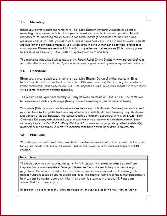 Doc463428 Free Printable Business Plan Free Printable – Printable Business Plan