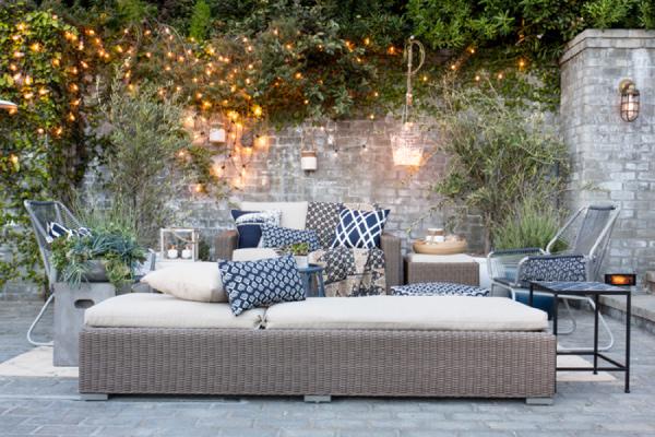 Bianco e Blu per un patio in stile marino