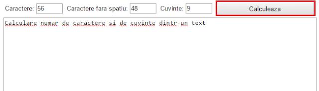 Aplicatie online de numarare a cuvintelor si caracterelor dintr-un text