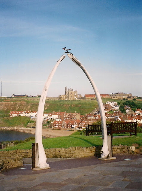 Whale bone arch in Whitby, Yorkshire