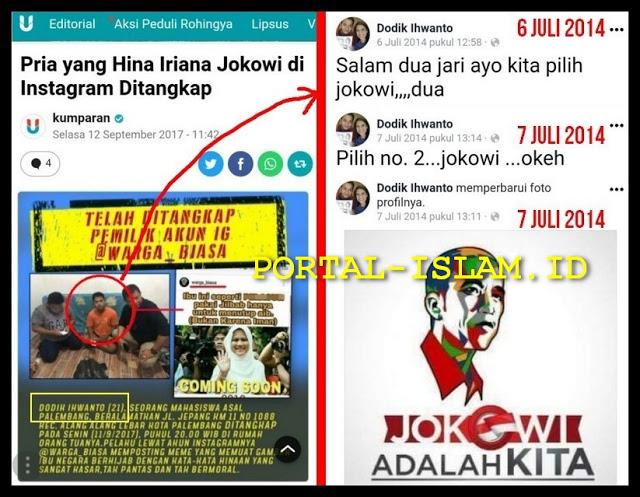 NAHLOH TERBONGKAR! Penghina Istri Jokowi Yang Ditangkap TERNYATA Seorang Pendukung Jokowi