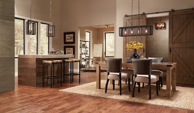 Semi flush mount dining room lighting