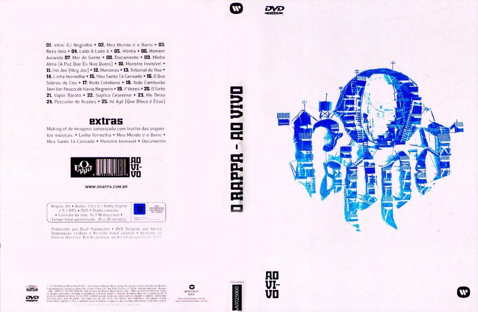 dvd do o rappa - ao vivo na rocinha