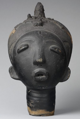 Akan African Art Memorial Head