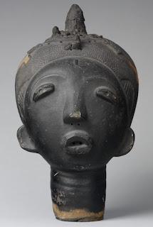 Akan African Art Memorial Head
