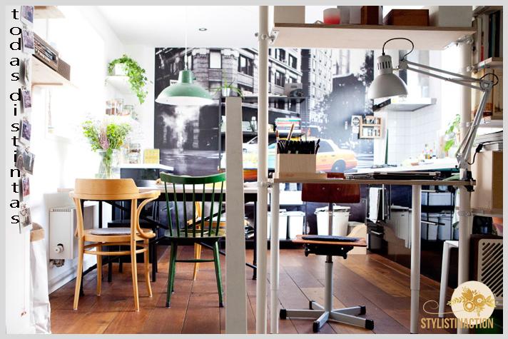 sillas de autor - cual es la indicada para cada casa - sillas diferentes en un espacio laboral by IKEA