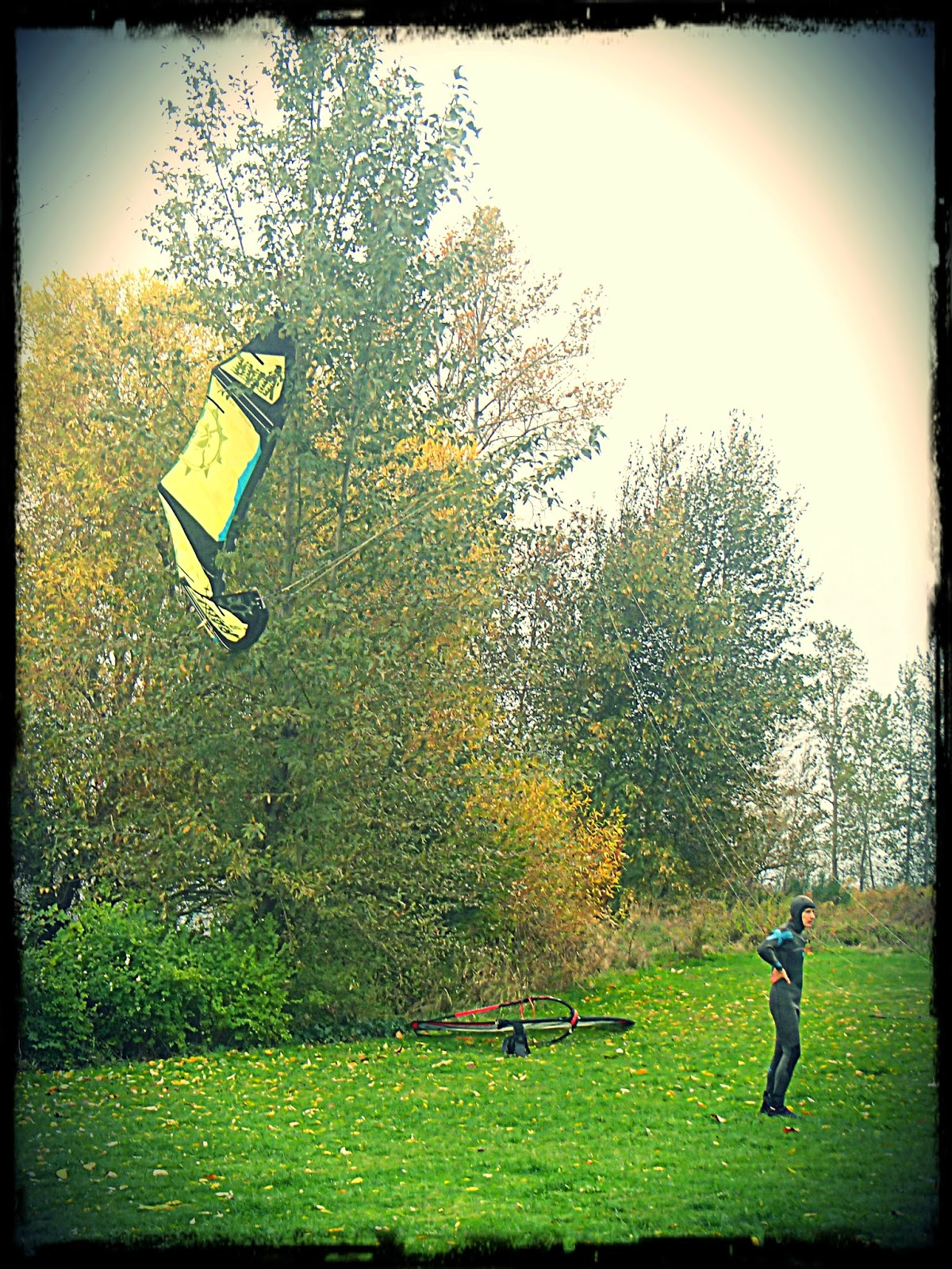 Kiteboarding at Magnuson Park in Seattle