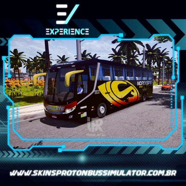 Skins Proton Bus Simulator Road - Comil Invictus MB O-500 RS Expresso Nordeste
