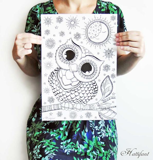 Hattifant Baby Owl Print