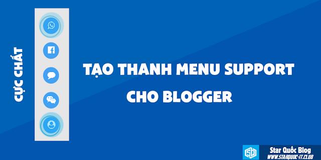 Tạo Thanh Menu Support Cực Chất Cho Blogger