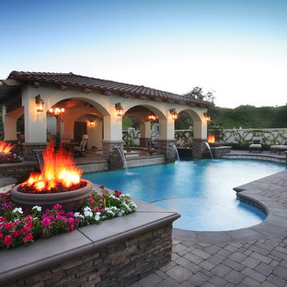 or the outside of the pool house could look like a little storybook