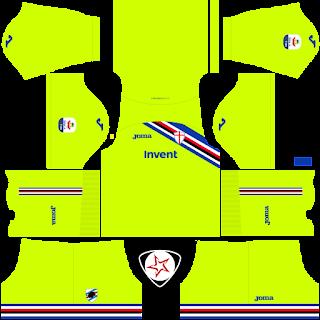 UC Sampdoria 2018 - 2019 GK Home Kit