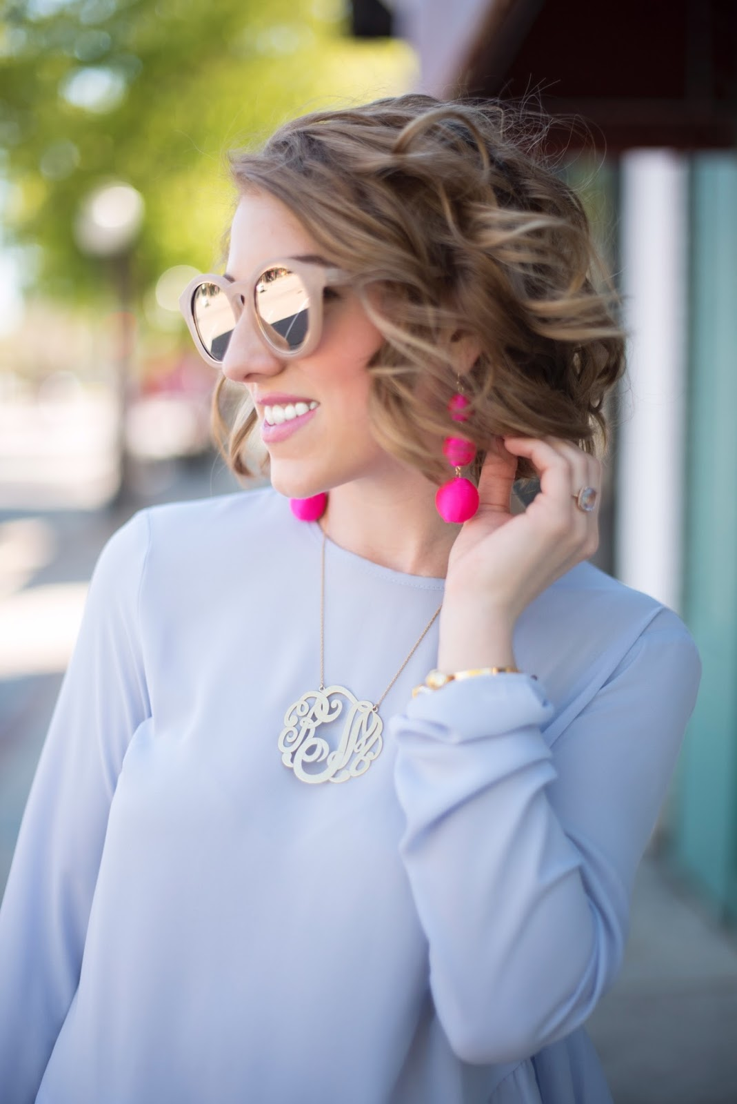 Pink Statement Earrings - Click through to see more on Something Delightful Blog