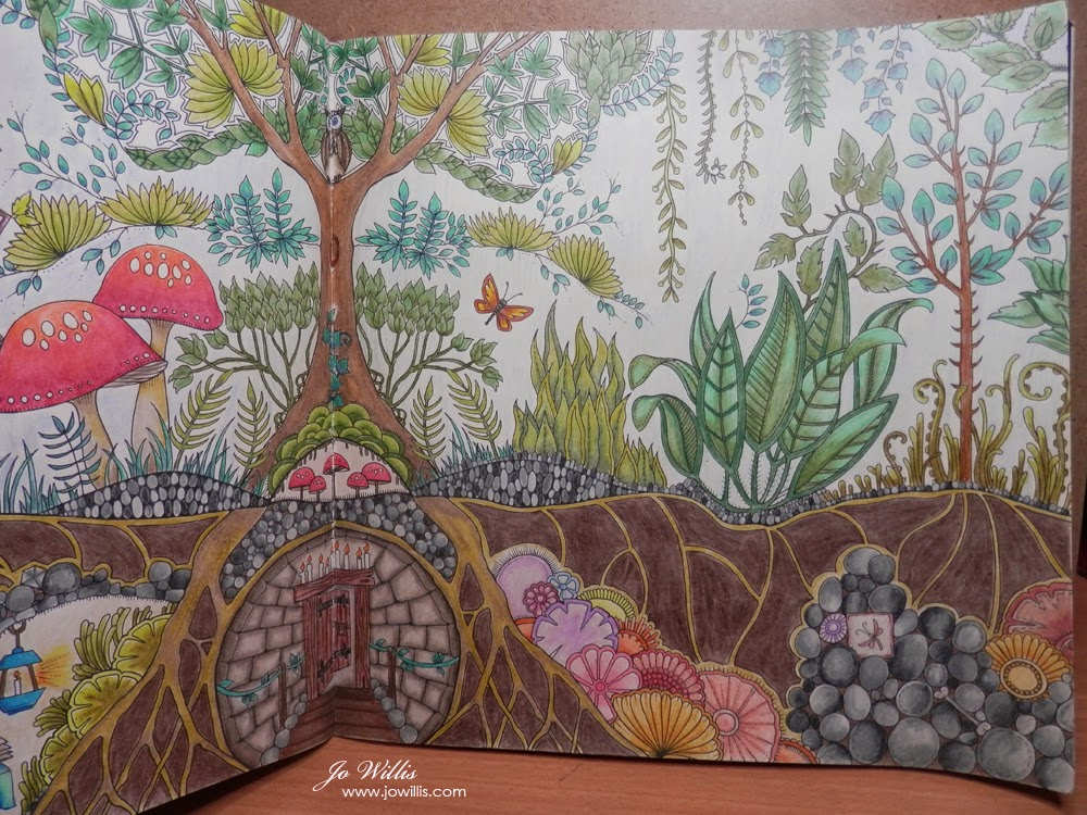 91 Enchanted Forest Coloring Book Prismacolor Pencils Free