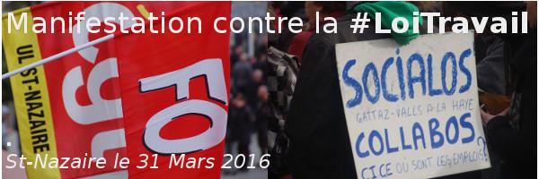 #LoiTravail : Forte mobilisation pour le retrait du projet, le 31 Mars