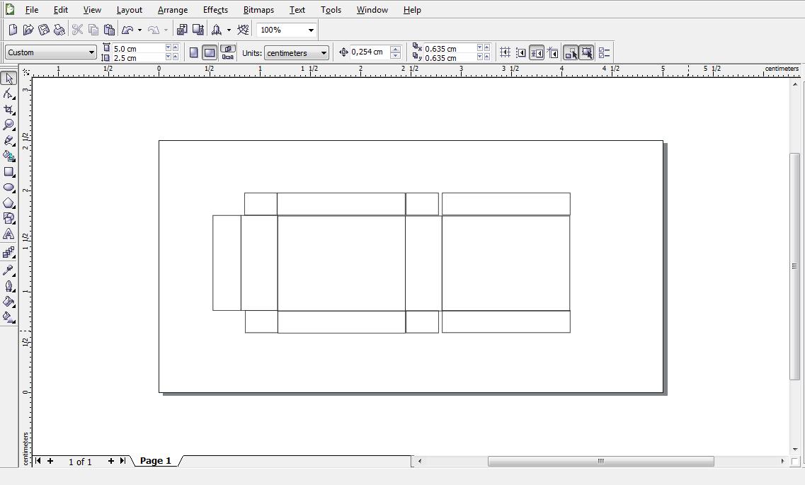 Rin's: Membuat Design Kardus Kemasan Menggunakan Corel Draw